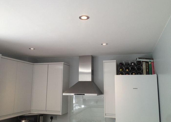 Lowered ceiling - plastered - LED downlights